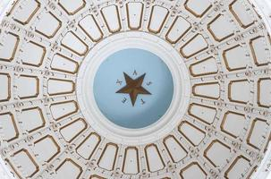 inuti kupolen i texas statliga huvudstadsbyggnad rotunda foto