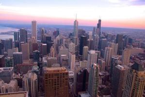 himmelsikt - chicago foto