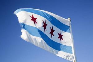usa - illinois - chicago, flagga foto