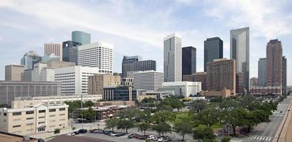 en skylinevy av den vackra Houston
