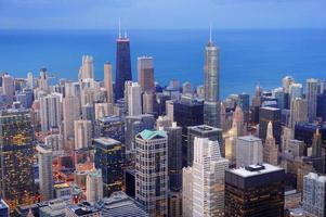Flygfoto över chicago foto