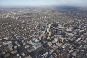Dowtown Phoenix i Arizona flygfoto foto