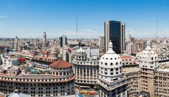 panorama över centrum av buenos aires foto