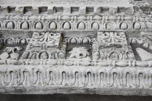 pediment av den bysantinska kyrkan foto