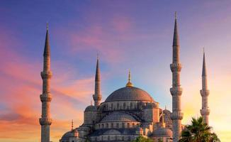 istanbul - blå moské, kalkon foto
