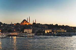 istanbul solnedgång gyllene horn foto