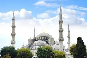 blå moské. Istanbul, Turkiet foto