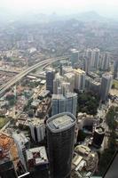 Flygfoto över Kuala Lumpur från klcc