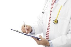 fylla i medicinskt dokument foto