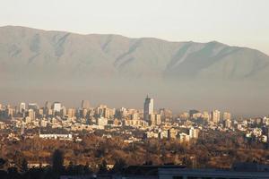 santiago chile skyline foto