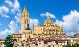 catedral de santa maria de segovia, castilla y leon, spanien foto