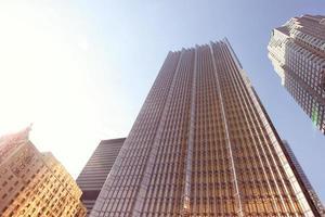 byggnad från Kanada, fotograferad från ett lågvinkelperspektiv foto