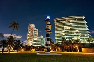 nattbilder på Miami Beach foto