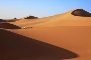 sanddyner i saharaöknen foto