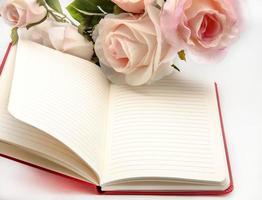 anteckningsbok med blommor foto