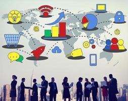 marknadsföringsstrategi branding kommersiell reklam plan concep foto