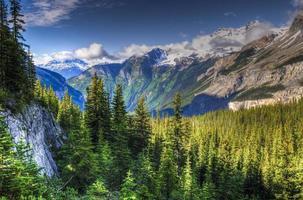 vandring berg sjön trail foto