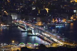 istanbul bosphorus och galata bridge foto