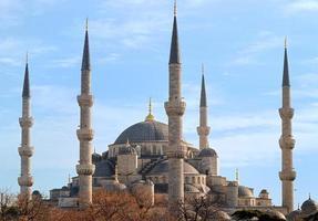 blå moskén i istanbul, Turkiet foto