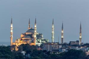 sultan ahmet camii - blå moské i istanbul, kalkon. foto