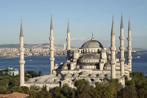 blå moské (sultanahmet moské) foto