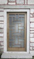 närbild metall dörr, dörr av texturerat