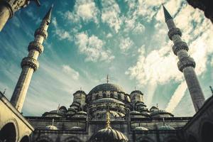 istanbul bosphorus moské yeni cami moské foto