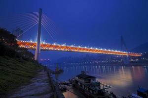 chongqing dubbel kabelbro foto