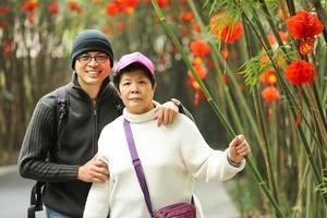 lycka asiatisk familj foto