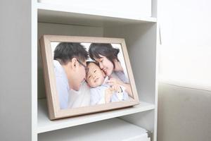 lycklig familjefoto
