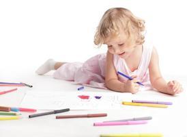 barn ritning foto