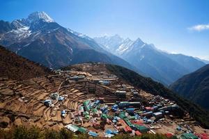 namche basar, nepal foto