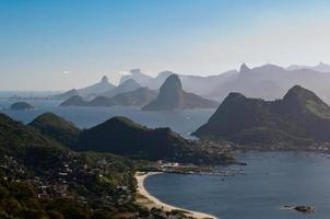 pittoresk bergsutsikt över rio de janeiro foto