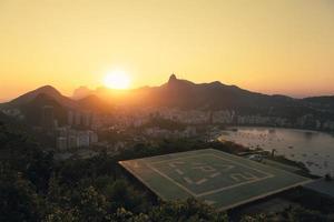 solnedgång över rio de janeiro