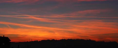 panoramisk solnedgång foto