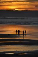 solnedgång promenad foto