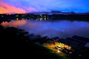 solnedgång natt foto