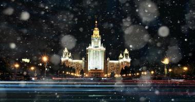 moskva natt msu foto