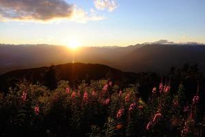 terrass solnedgång foto