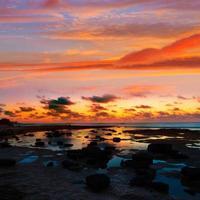 Mallorca solnedgång es trenc stranden i campos foto