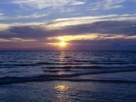 solnedgång havet