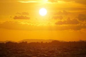 solnedgång himmel, Thailand.