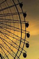 solnedgång pariserhjul foto