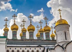Ryssland, Moskva, Kreml, teremkyrkor eller övre frälskatedralen. foto