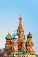 saint basilkatedralen i Moskva foto