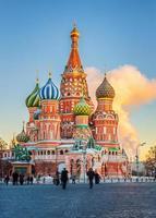 st. basilika domkyrka i Moskva foto