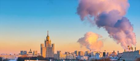 Flygfoto över Moskva foto