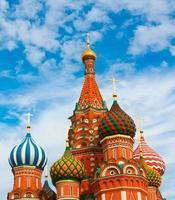 st. basilika domkyrka på röda torget i Moskva, Ryssland foto