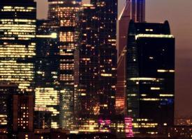 Moskva skyskrapor foto
