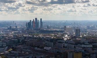 Flygfoto över Moskva. foto